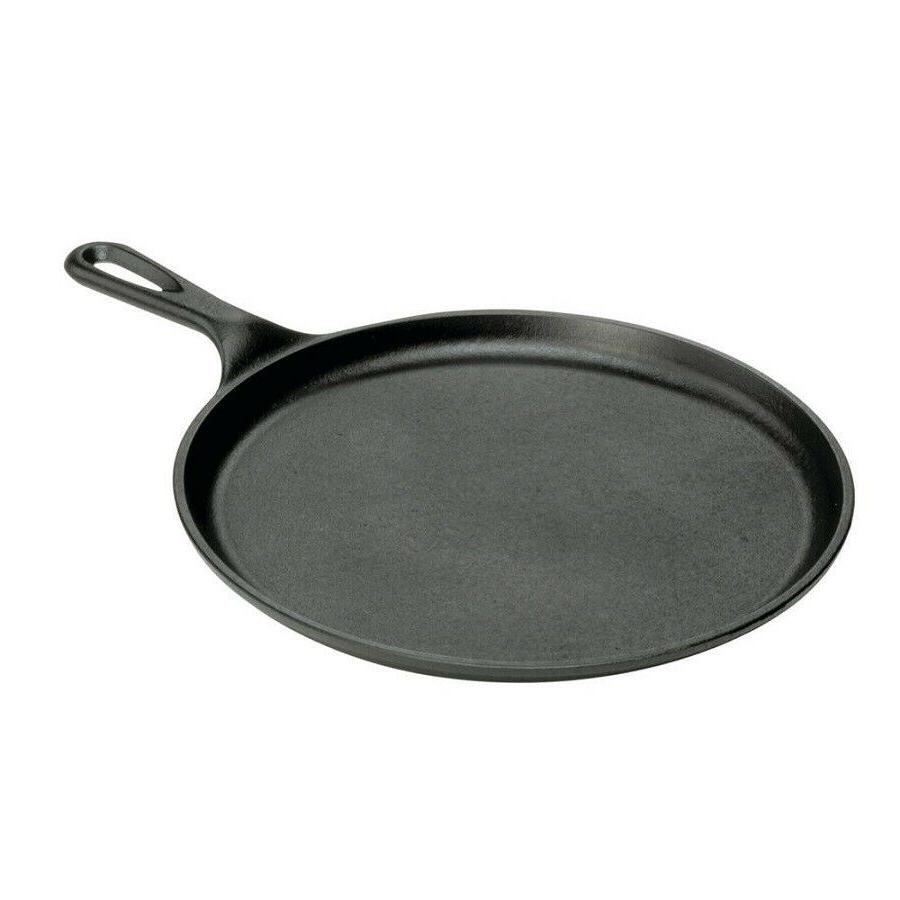 10.5 in. Cast Iron Griddle Pan Round Skillet Pancake Tortill