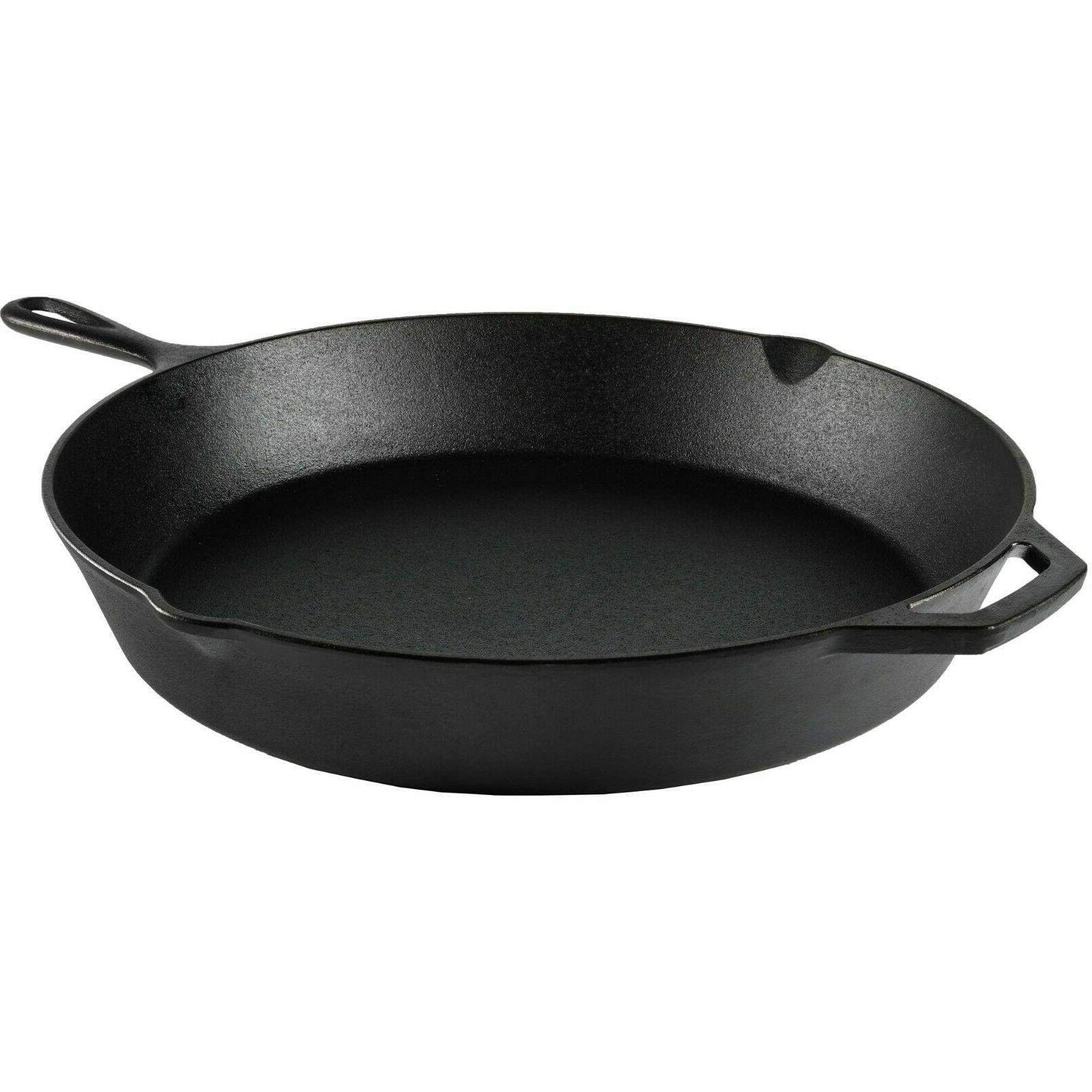 """15"""" Cast Iron Frying Pan Cooking Oven Camp"""