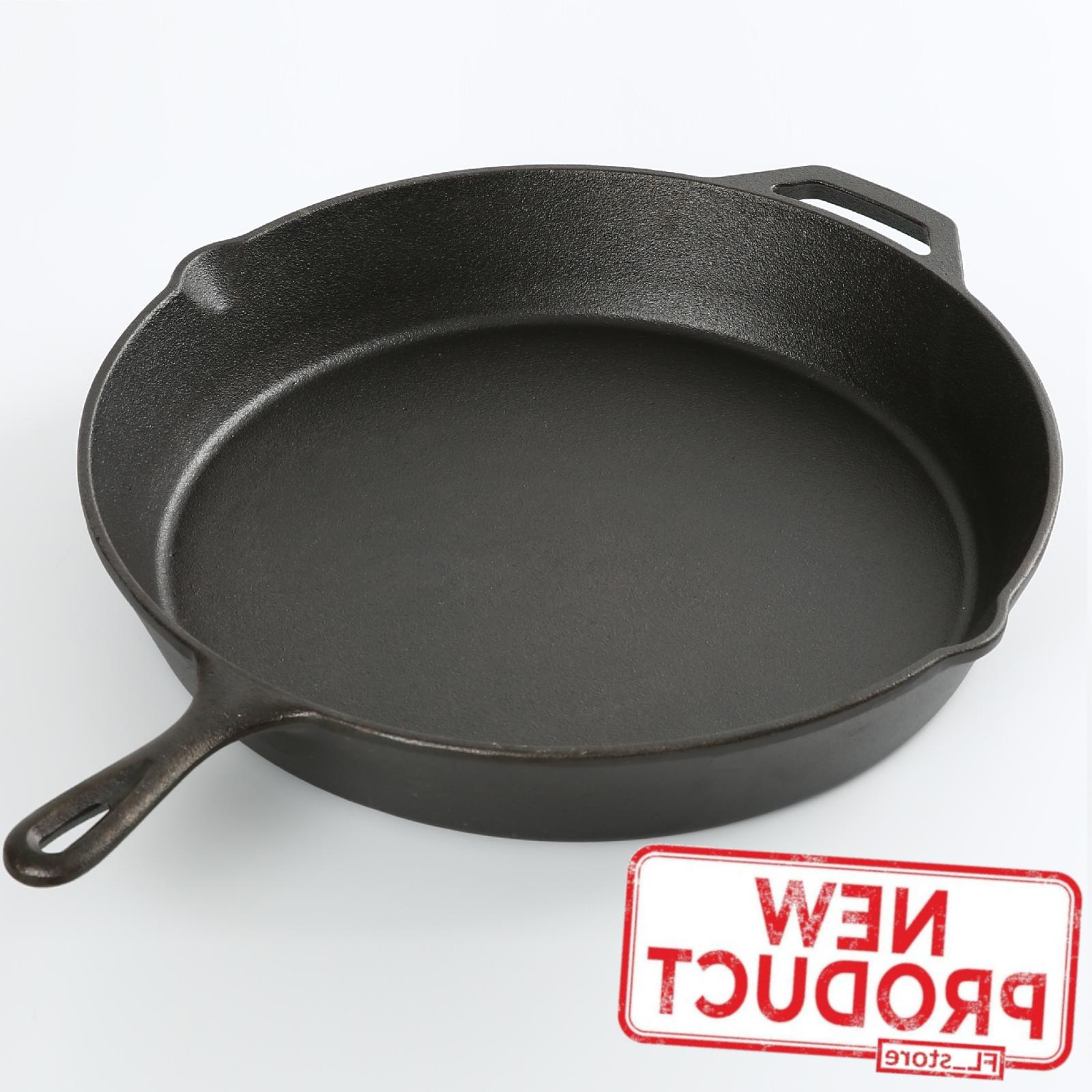 15 cast iron skillet frying pan pre