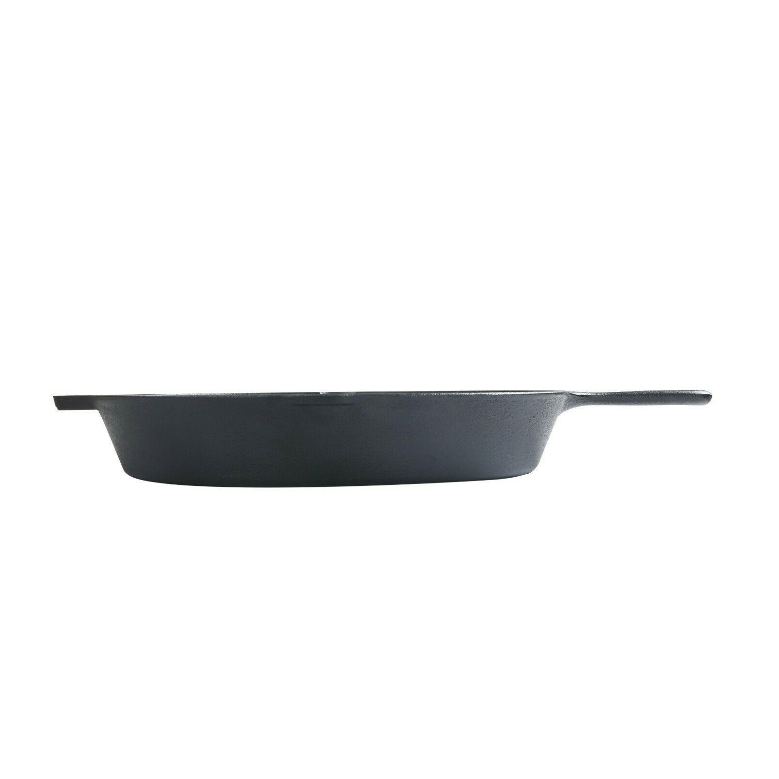 """15"""" Cast Skillet With & Lips, Kitchen Home Cookware"""
