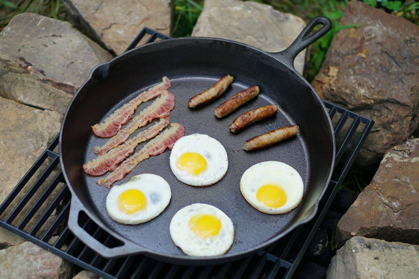 """15"""" Cast Iron Skillet With Handle Kitchen & Cookware"""