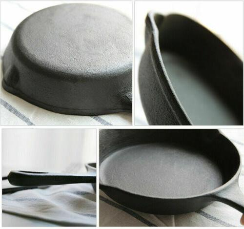"3 Piece Cast Skillet 6/8/10"" Non Stick Frying Oven Safe"