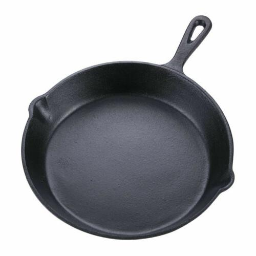 3 Cast Iron Skillet Set Stick Frying Pan Oven Safe Cookware