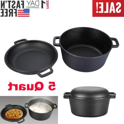 5-Quart Double Dutch Skillet 2 in Cookware USA