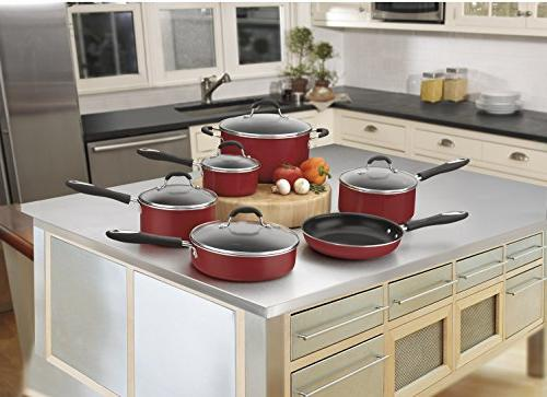 Cuisinart 55-11R Advantage Nonstick 11-Piece Cookware Set,