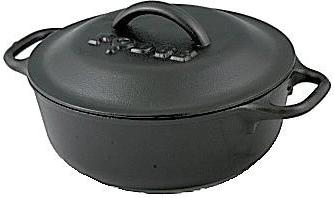 Lodge 2 Iron Pot with for Cooking, or