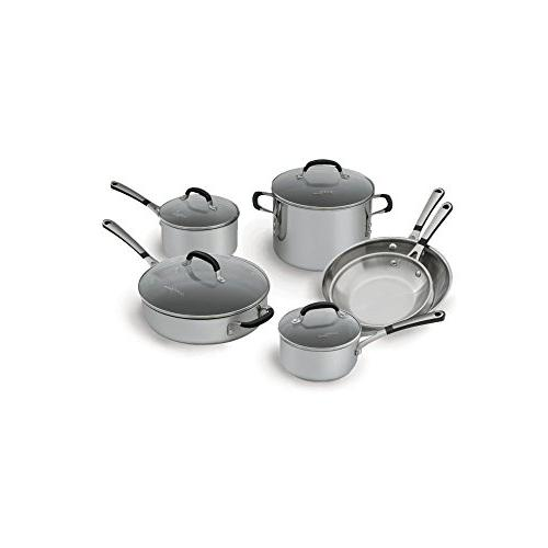 Simply Calphalon 1757697 Stainless Steel 10 piece Cookware S