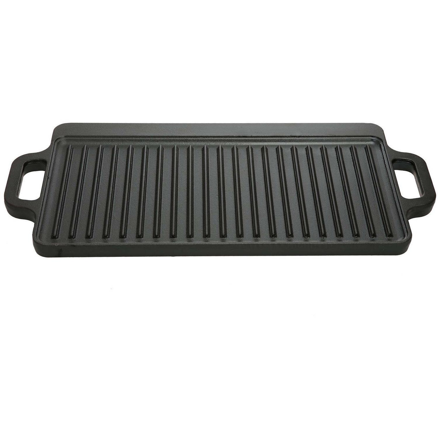 Cast Iron Griddle Grill Pan BBQ Skillet Barbecue Top