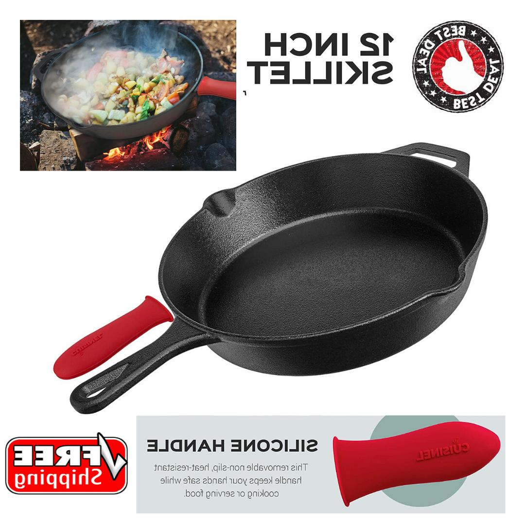 cast iron skillet 12 inch nonstick frying