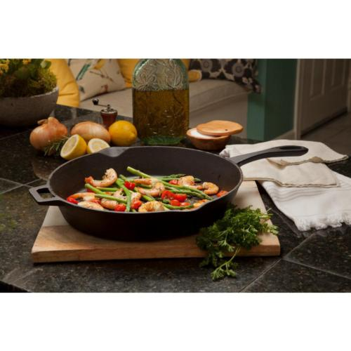 Cast Iron Skillet 14 in. Cookware Stove Oven Campfire Pan La