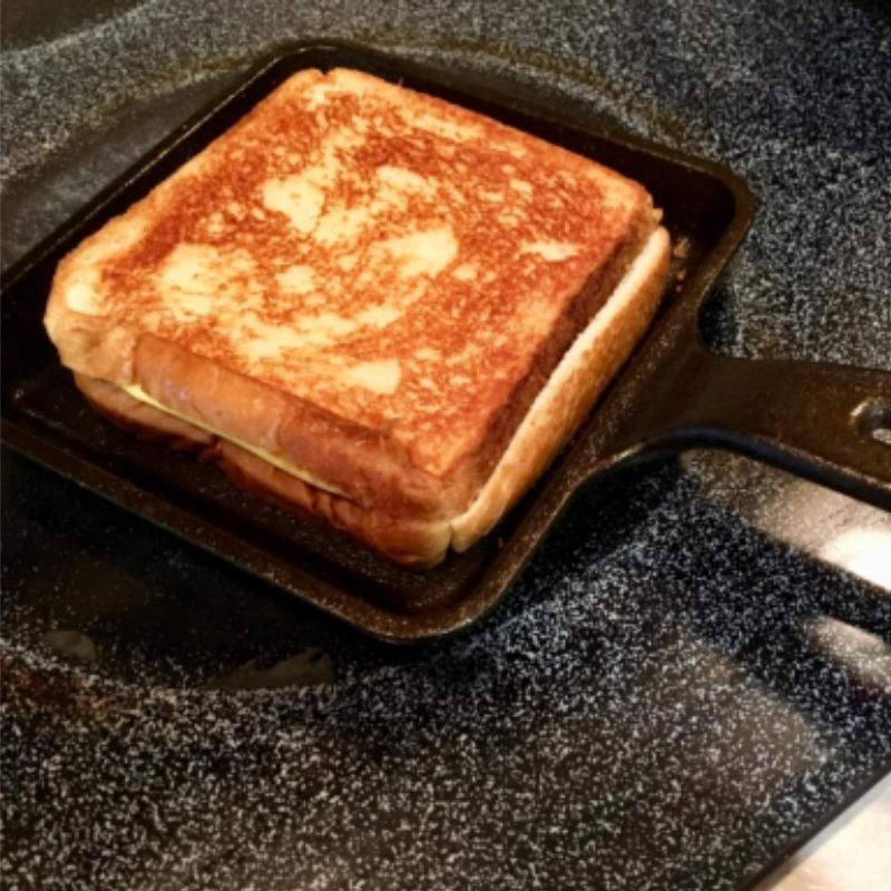 Eggs Frying Baking Cooking Oven LODGE Square Pan