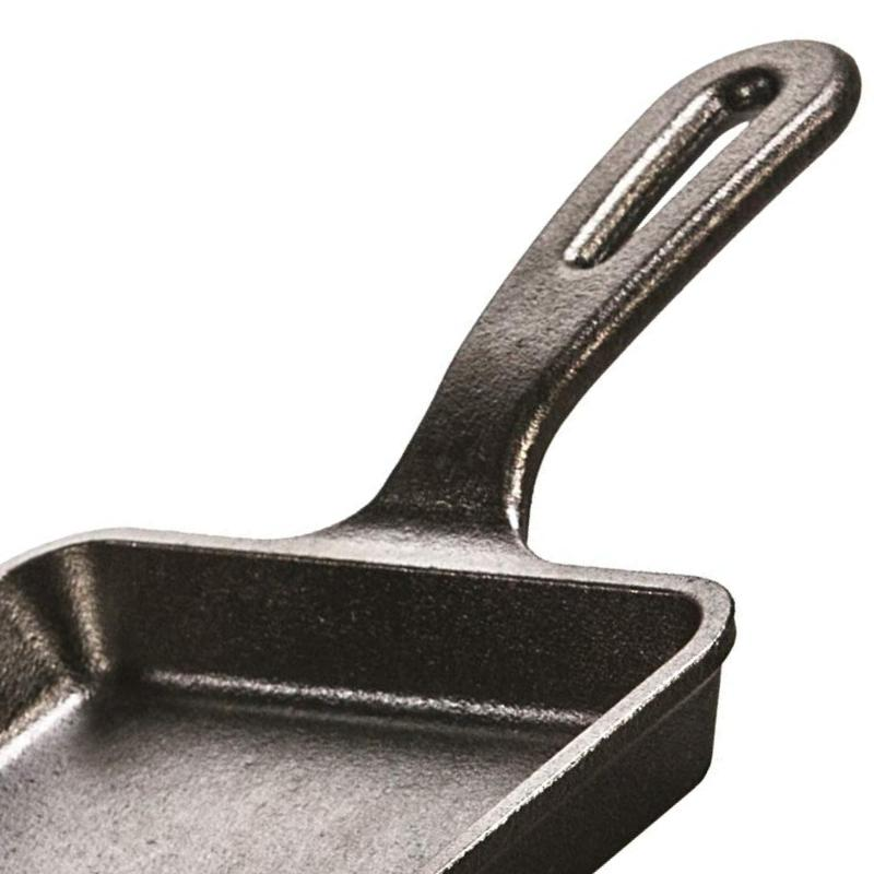 Cast Iron Skillet For Eggs Cooking Square Pan