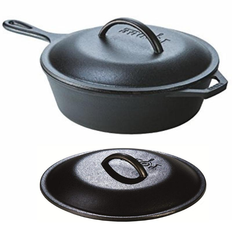 Cast Frying Soup LODGE Chicken Pan