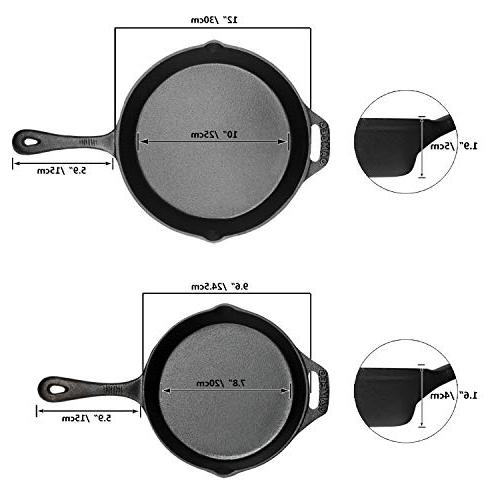 Cast Pre-Seasoned - & Pans 2 Piece - Best Duty Professional Chef Indoor Use,Grill,Stovetop