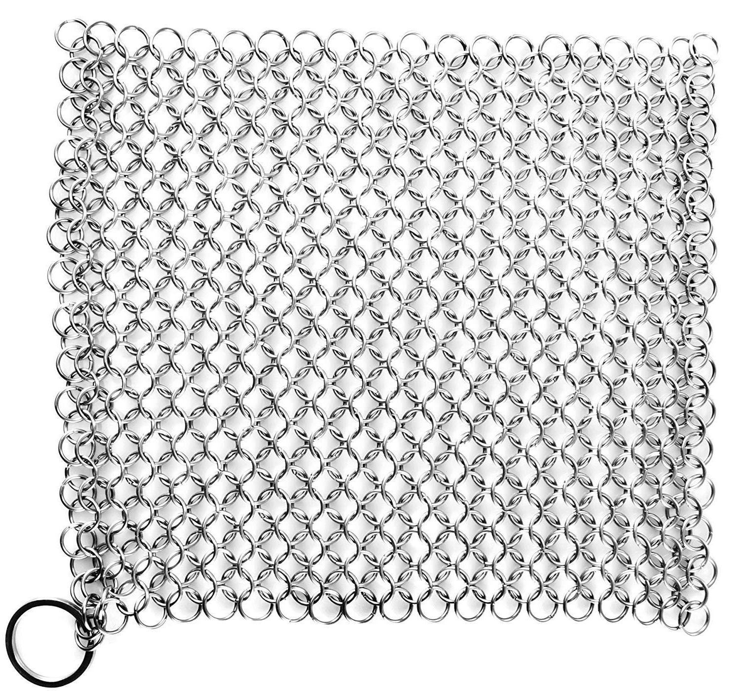 chainmail scrubber stainless steel cast iron cookware