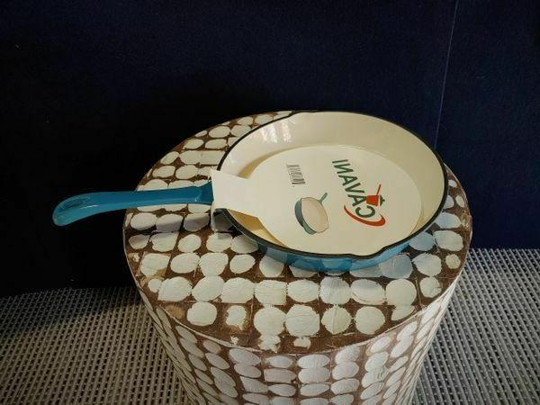 enameled cast iron skillet 10 inch teal