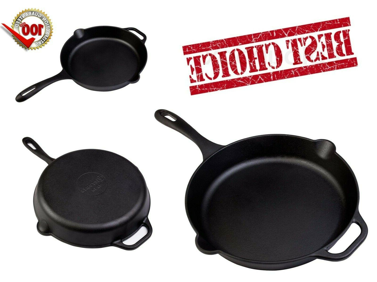 large cast iron skillet deep frying fry