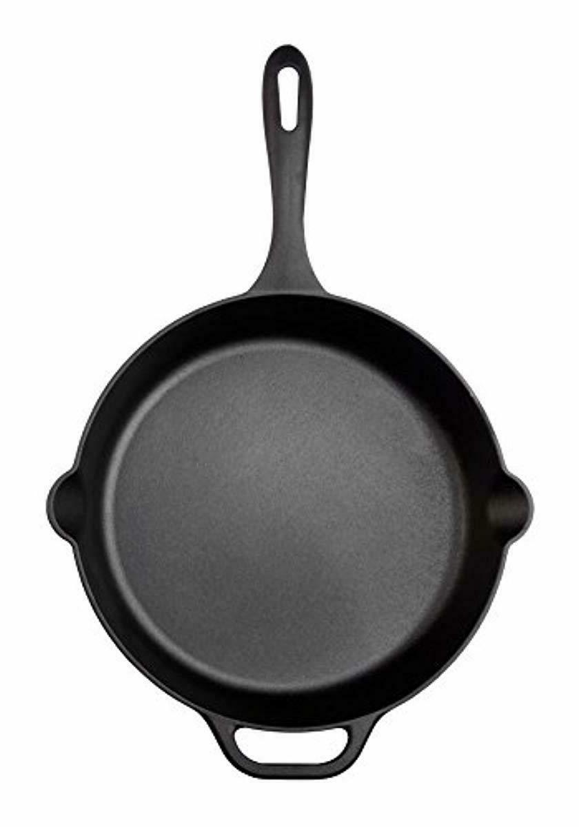 Large Pre-Seasoned Cast Iron Skillet Victoria, Round with