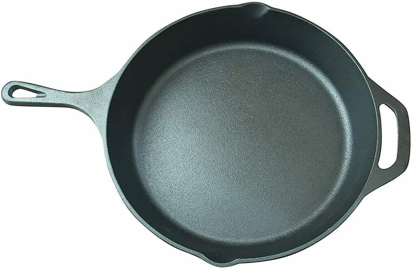 Lodge 12 Inch. Cast Iron Skillet Pan Assist Handle