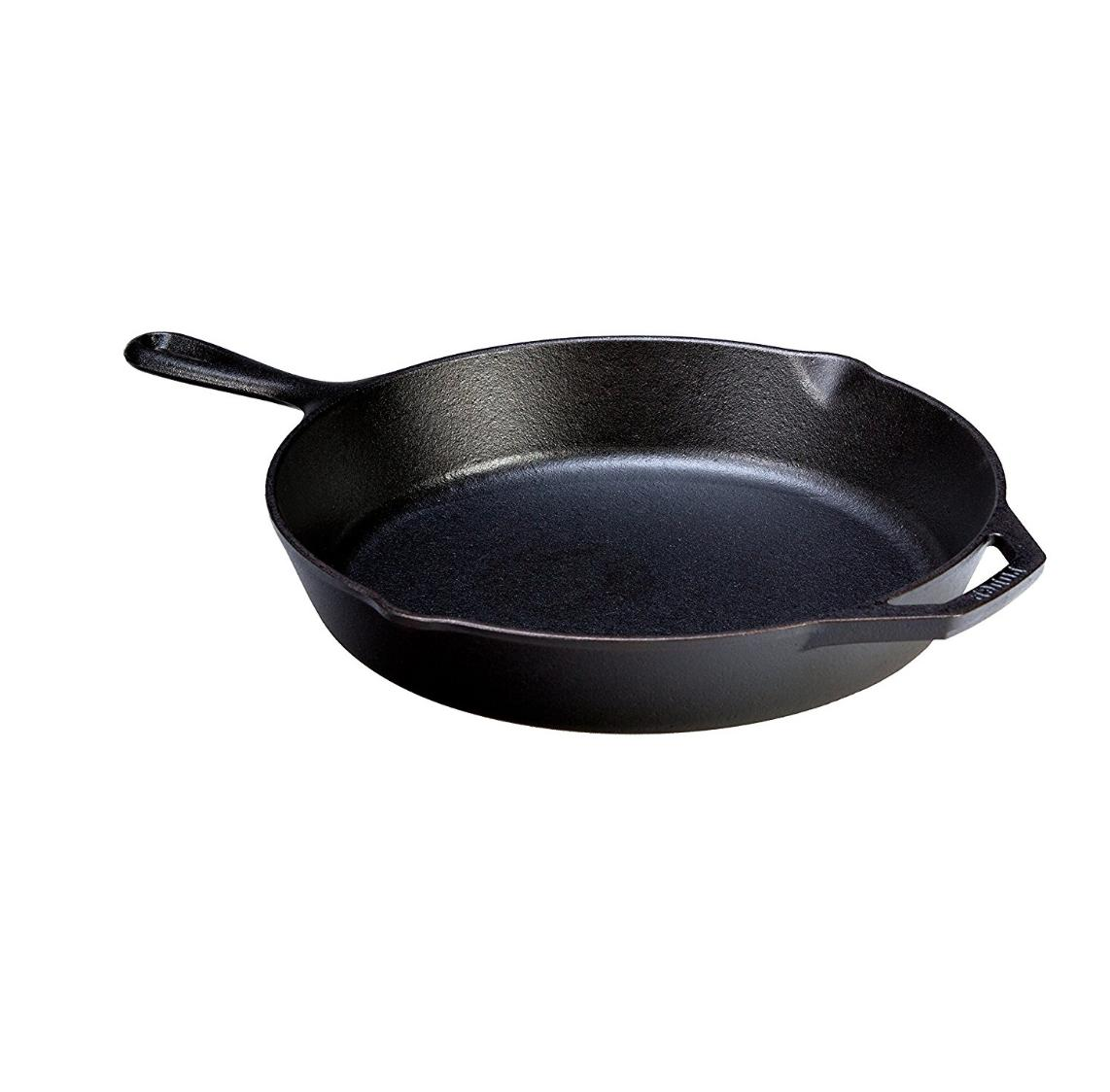 Lodge Pre-Seasoned 12 Inch. Cast Iron Skillet Frying Pan Wit