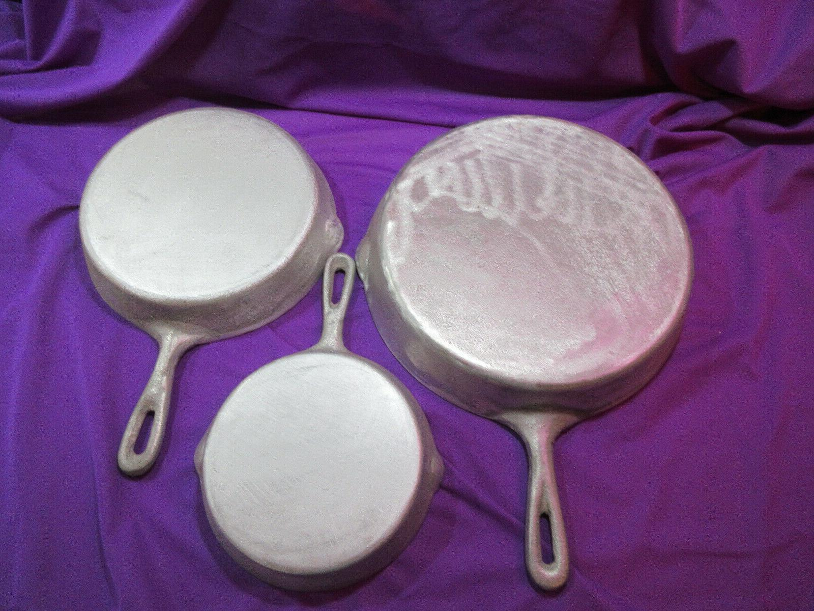 """NEW ALUMINUM FRY PAN/SKILLETS 10"""",8"""",6"""" CAMPING,COOK-OUT"""