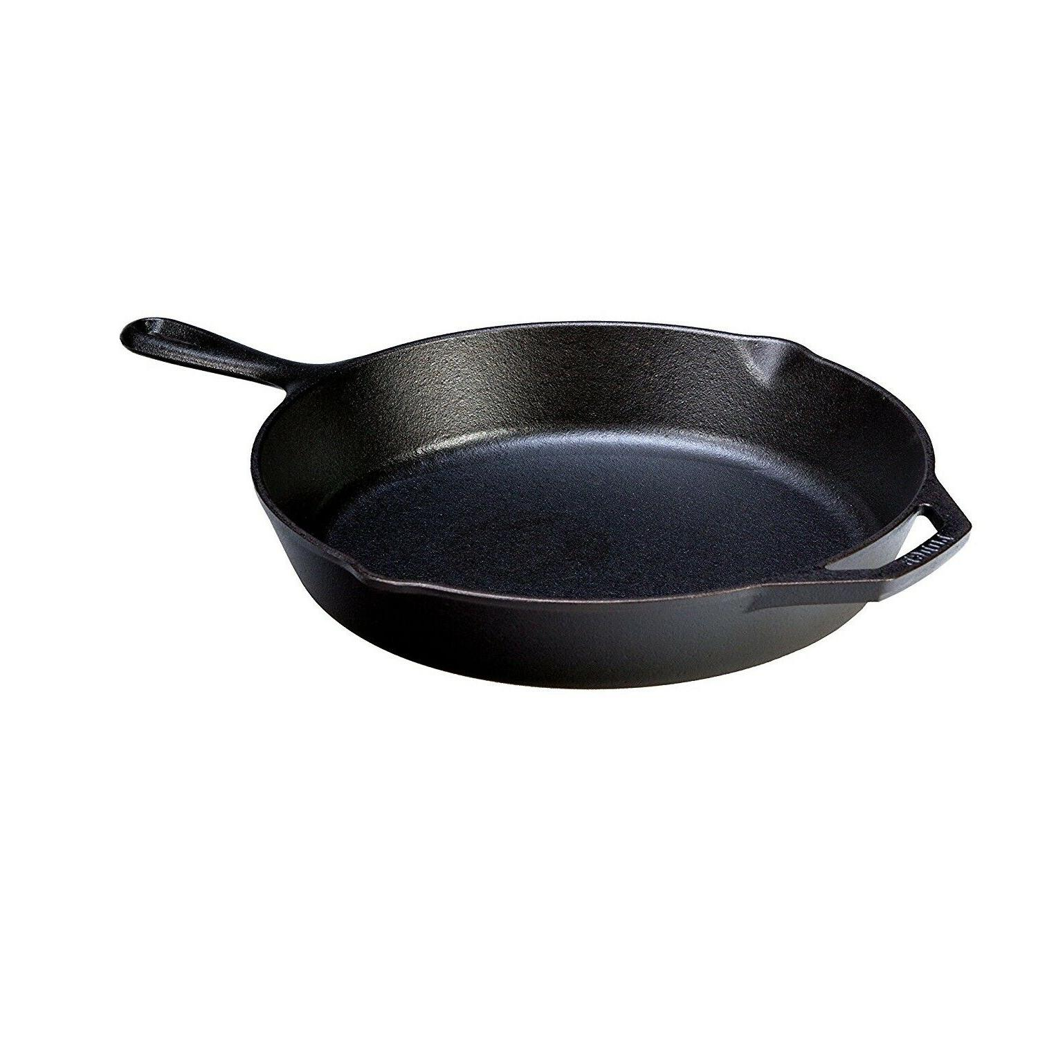 Pre-Seasoned 12 Inch Cast Iron Skillet Assist Handle Home Co