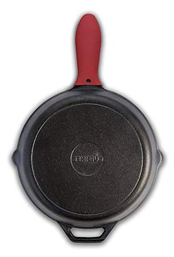 cuisinel - Pre-Seasoned Cast Oven Heat-Resistant | Indoor and Outdoor Use Grill, Stovetop, Induction New Version