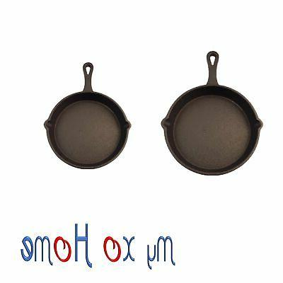 round cast iron frying pan skillet