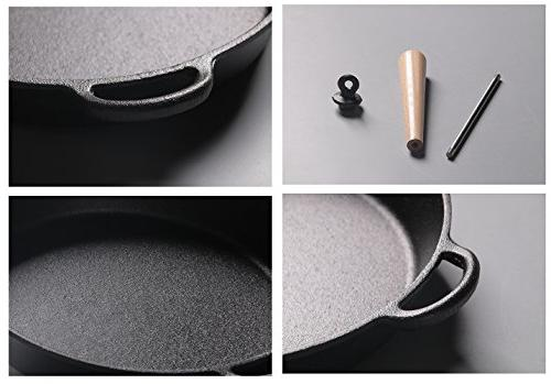 Pre-Seasoned Iron Round Griddle Cast Frying Pan 9.5