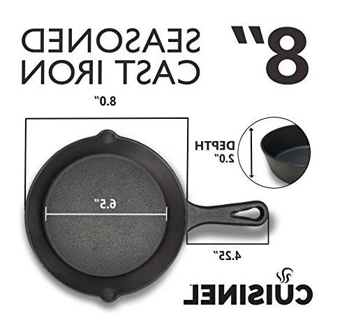 Pre-Seasoned Iron 2-Piece Set Oven Safe Cookware | Holders Outdoor | Stovetop,
