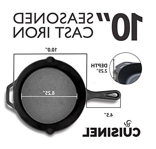 Pre-Seasoned 2-Piece Set Oven Safe Cookware Heat-Resistant Holders | Outdoor Use |