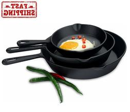 large pre seasoned cast iron skillet by