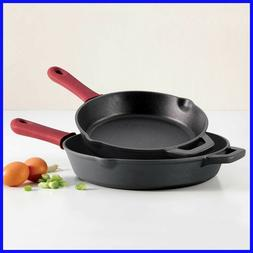 Tramontina 2-piece Cast Iron Skillets, Induction capable, 1