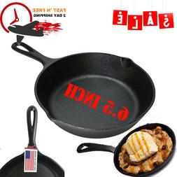 Non Stick Mini Frying Pan Skillet 6.5 Inches Cast Iron Skill