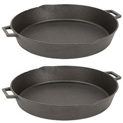 Bayou Classic 16 Inch Oven Safe Cast Iron Skillet Saucepan C