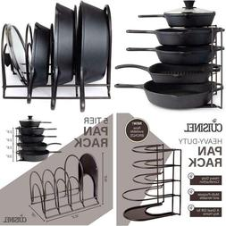 Pan Organizer For Cast Iron Skillets, Griddles And Pots - He
