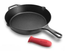 cuisinel - Pre-Seasoned Cast Iron Skillet  w/Handle Cover Ov