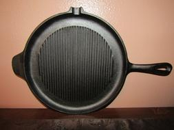 Round Cast Iron Frying Grill Roasting Pan Skillet