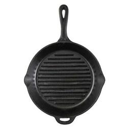 Camp Chef 12 Inch Seasoned Cast Iron Grill Skillet