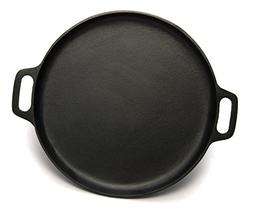 Pre-Seasoned Cast Iron Pizza and Baking Pan  Natural Finish,