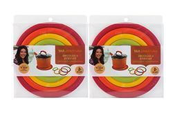 Rachael Ray Silicone Multicolor Concentric Circle Trivets, N