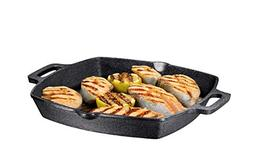 13 Inch Square Cast Iron Grill Pan. Pre-seasoned Grill Pan w