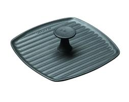 Le Creuset 9 Inch Square Cast Iron Panini Press, Size One Si