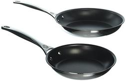 Le Creuset SSP14102 2 Piece Nonstick Stainless Steel Fry Pan