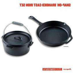 Snap On *SSX20P129* Cast Iron Dutch Oven and Skillet Set New