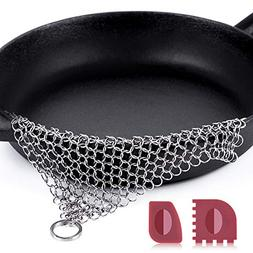 """Amagabeli Stainless Steel Cast Iron Cleaner 8""""x6"""" 316L C"""