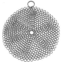 Stainless Steel Cast Iron Skillet Cleaner Chainmail Cleaning