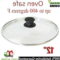 Tempered Glass Lid 12 Inch for Cast Iron Griddle Pan Pre Sea