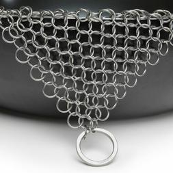 The Ringer Stainless Steel Big Chainmail Cast Iron Skillet C