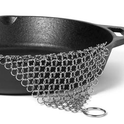 US Ringer Stainless Steel Big Chain Mail Cast Iron Skillet C